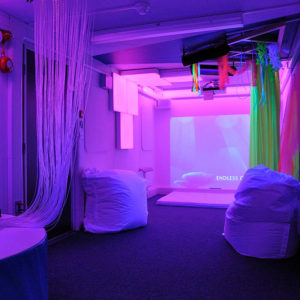 Sensory room in pink light